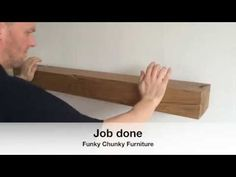 (1) How To Fit A Floating Shelf: Offset Concealed Brackets. - YouTube