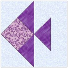fish quilt pattern | ALL STITCHES - FISH PAPER PIECING QUILT BLOCK PATTERN .PDF -019A