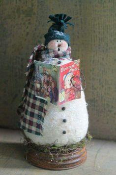 Christmas Crafts To Make, Christmas Scenes, Christmas Sewing, Primitive Christmas, Christmas Wrapping, Christmas Snowman, Simple Christmas, All Things Christmas, Handmade Christmas