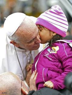 Pope Francis loves to be around children!