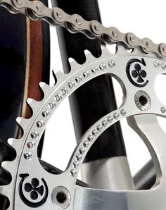 Campagnolo Colnago Pantographed chainrings with drilled holes