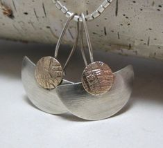 Hey, I found this really awesome Etsy listing at https://www.etsy.com/listing/31707787/brushed-sterling-silver-fan-earrings: