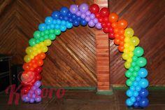 Arco globos arcoiris Rainbow Balloon arch Kokoro Fiestas