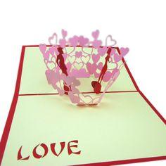Pop Up Card Birthday Card Toshine 3D Card Pop Up Card Greeting Paper Card for Birthday Gold Birthday