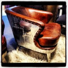 *VAULT Limited Edition Aged Leather Armchair by Canalside Interiors, Australia