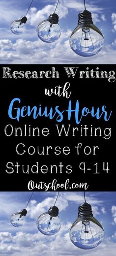 Introductory course for research writing using the highly engaging Genius Hour model. This class is appropriate for students ages 9-14. #outschool #geniushour #homeschool #projectbasedlearning #PBL #research #writing #onlineeducation #UDL