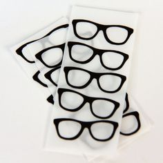 Nerd Glasses Stickers Geekery Stickers Nerdy Stickers Decorative Scrapbooking Stickers Embellishments Horn rim glasses