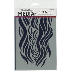 Ranger Dina Wakley Media Stencil - Mighty Wave - Create layers of colors, texture and design with Media Stencils and Media Masks from Dina Wakley. Use with Dina Wakley Media Heavy Body Acrylic Paints and Mediums. Measuring a 6 x 9 inch footprint.