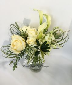 Contemporary Rose and Calla Lily Arrangement, Rose of Sharon Floral Designs