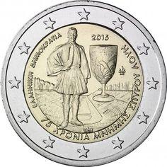 2 euro commémorative 2015 Grèce - 75e anniversaire de la disparition de Spyridon Louis : tirage 750 000 ex