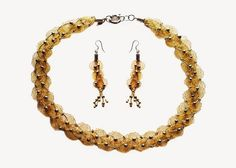 online wire mesh gold plated earrings and necklace shopping