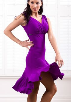 Chrisanne Cross Over Latin Dress - DanceShopper.com #Dance #fashion