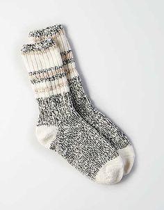 AEO Stripes Crew Socks