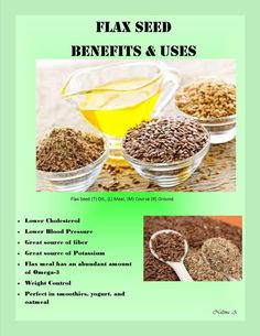 Flax Seed Benefits & Uses. The best lil kept secret:) Healthy Eating Recipes, Raw Food Recipes, Healthy Tips, Healthy Choices, Healthy Snacks, Food Tips, Natural Health Remedies, Herbal Remedies, Flax Seed Benefits