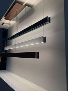 LightFair 2015   Edge Lighting booth   Glide up/down LED suspension lights
