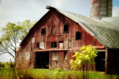 """""""Sunday I drove around the country roads and found a beautiful, old, red barn..."""""""