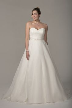 793c31cb484fc Wedding Dress out of Venus Bridal (VW8754)VW8754 Full Organza gown with  strapless sweetheart