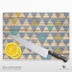 Tribal Triangle Cutting Board Perfect Hostess by TealPoodle, $36.00