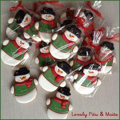 Galletas Navidad personalizadas. Primer añito Telmo