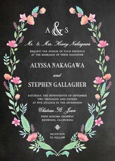 Signature White Wedding Invitations