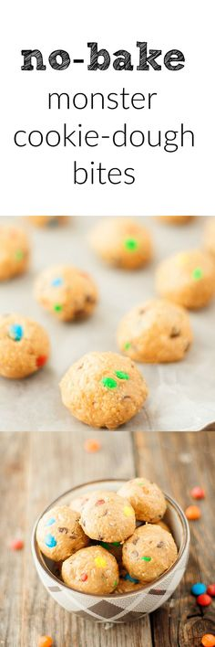 monster cookie dough bites - Heather's French Press