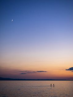surfing under the moon by Michel Mayerle on Under The Moon, Surfing, Celestial, Sunset, Outdoor, Landscapes, Sunsets, Outdoors, Surf