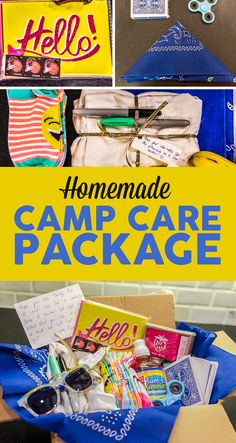 Create a perfect sleepaway camp care package with these 10 items. Camping Box, Girl Scout Camping, Camping Gifts, Camping With Kids, Summer Camp Packing, Camping Packing, Summer Camps For Kids, Summer Kids, Camp Letters