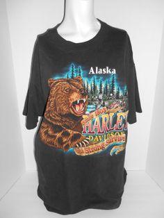 Vintage mens HARLEY DAVIDSON Alaska tee t by ATELIERVINTAGESHOP, $50.00