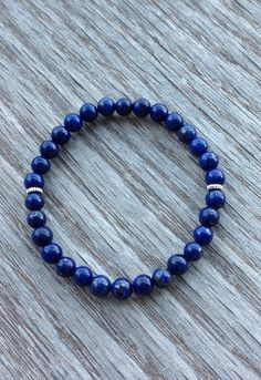Lapis Lazuli Bracelet Gemstone Boho Bracelet by BBTresors on Etsy
