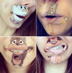 Makeup Artist Laura Jenkinson's Cartoon Lip Makeup