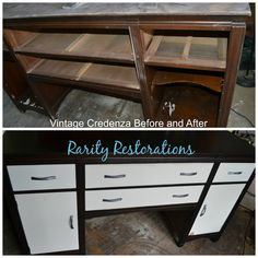 Credenza Before and After Rarity, Credenza, Entryway Tables, Restoration, Vintage, Furniture, Home Decor, Decoration Home, Room Decor