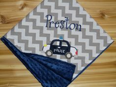 This adorable chevron baby blanket is perfect for those lil cop lovers in your life!    This order will be for one handmade blanket. This will be