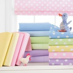 gingham and polka dot bedding Soft Colors, Pastel Colors, Rainbow Colors, Colours, Soft Pastels, Polka Dot Bedding, Pastel Palette, Pastel Shades, Fabulous Fabrics