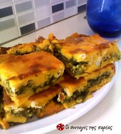 Phyllo Recipes, Spinach Recipes, Cooking Recipes, Spinach Pie, Greek Pastries, Greek Cooking, Greek Dishes, Gourmet Desserts, Greek Recipes