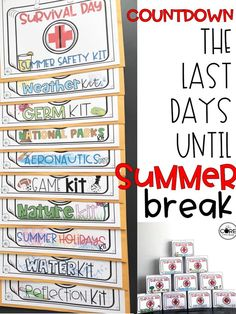 Countdown to the end of the year with these fun themed days. Each kit will engage your students ALL day. The themes are fun and educational. Teachers will love this just as much as the students.