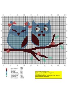 cross stitich chart(it should work for crocheting or kniting too)