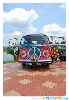 33 VW Hippy Vans Tye Dye Addition