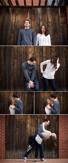 Wichita, KS engagement pictures in Old Town. Paige K Ramsey Photography Awww.. I know Miss Lauren and Scott! I love this!