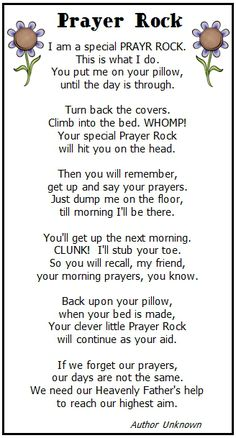 Prayer Rock Printable Poem ... I am so giving all my church friends this for Christmas this year! Wonderful!