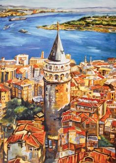 Sketches Of People, Drawing People, Istanbul, Color Poem, Puzzle, Pour Painting, Art Pictures, My Images, Mystic