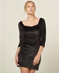 Vestido entallado de mujer Sfera negro