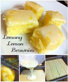 Ingredients: 1/2 c butter 3/4 c flour 2 eggs, large 2 tbsps lemon zest 2 tbsps lemon juice 3/4 c granulated sugar 1/4 teaspoon sea salt  Directions: 1. Preheat 350 2. Grease an 8×8 inch baking dish  3. Zest and juice two lemons 4. beat the flour, sugar, salt, and butter  5. separate bowl, whisk together eggs, lemon zest, lemon juice 6. Pour it into the flour mixture and beat for 2 mins at medium speed 7. bake for 23-25 mins 8. Glaze: 4 tbsps lemon juice 8 tsps lemon zest 1 cup powdered sugar