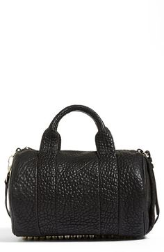 Alexander Wang 'Rocco' Leather Satchel available at #Nordstrom ;) my dream rocker bag pale gold