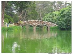 Stow Lake, Golden Gate Park- visit this great city park and find something you'd lie to do. Sometimes we cross this bridge and walk up Strawberry Hill.