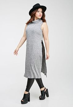 Heathered High-Slit Maxi Dress | FOREVER21 PLUS - 2000096986...Love the dress & tights