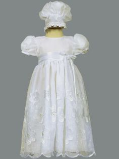 Lovely embroidered organza christening gown Hope Christian Store - Christening Dress Embroidered Organza Samantha, $49.99 (http://www.hopechristianstore.com/christening-dress-embroidered-organza-samantha/)