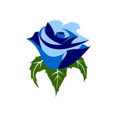 Graphic Design of Flower Clipart - Blue Rose with White Background