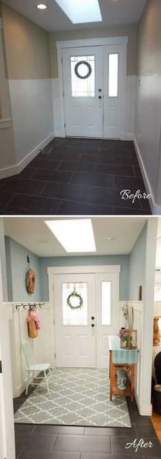 Make a Huge Transformation with DIY Wainscoting and New Paint.