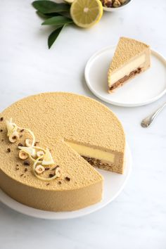 The recipe for praline and lemon pudding - Quick and Easy Recipes Fluff Desserts, Fancy Desserts, Lemon Desserts, Pudding Desserts, Entremet Praline, Entremet Recipe, Patisserie Fine, Cake Recipes, Dessert Recipes