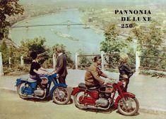 Budapest Pannonia de Luxe Retro Bike, Old Motorcycles, Retro Posters, Design Thinking, Budapest, Retro Vintage, Motorbikes, Lush, Swiss Guard